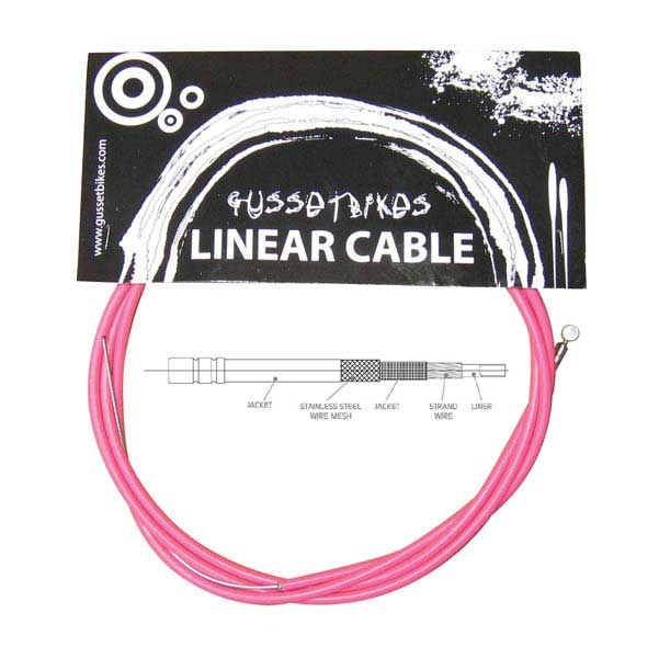 Gusset XL linear cable pink