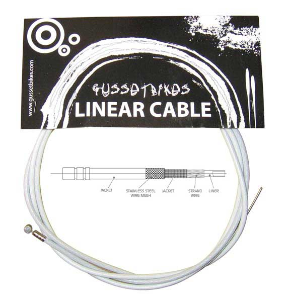 Gusset XL linear cable white