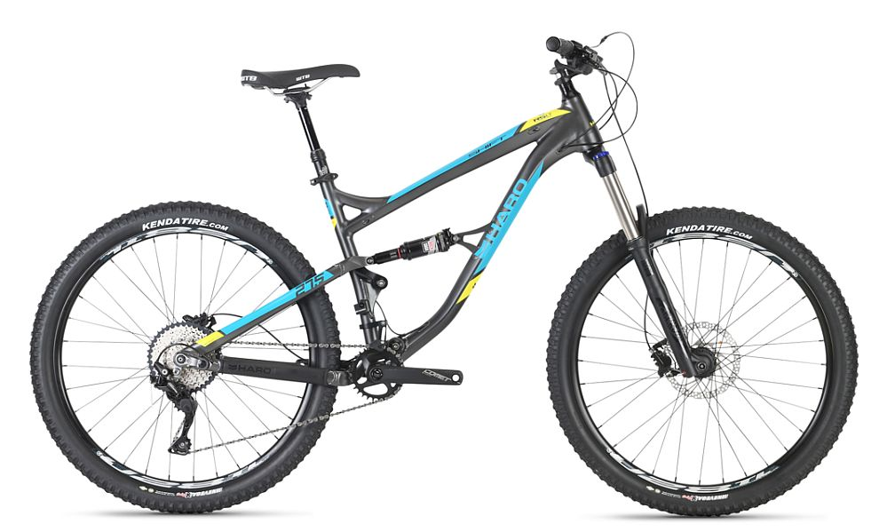 Haro Shift R5 LT (140 mm) - 27,5 Charcoal Cyan Yellow