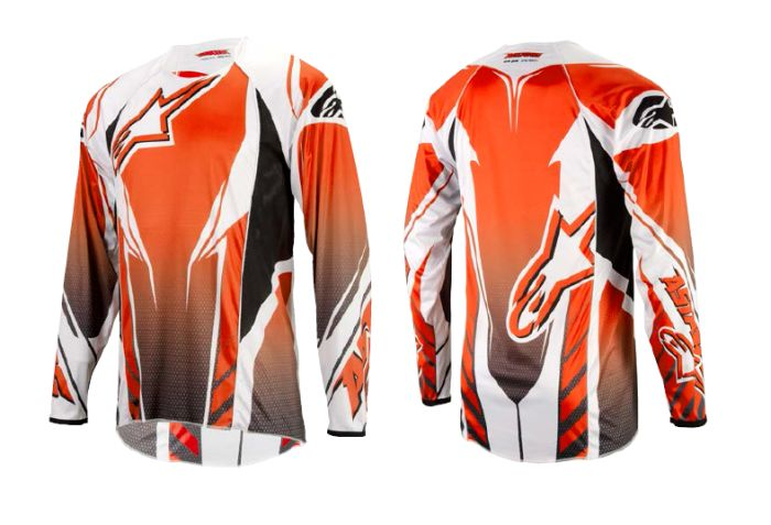 Alpinestars A-line L/S Jersey dres Orange/Black/Grey, size M
