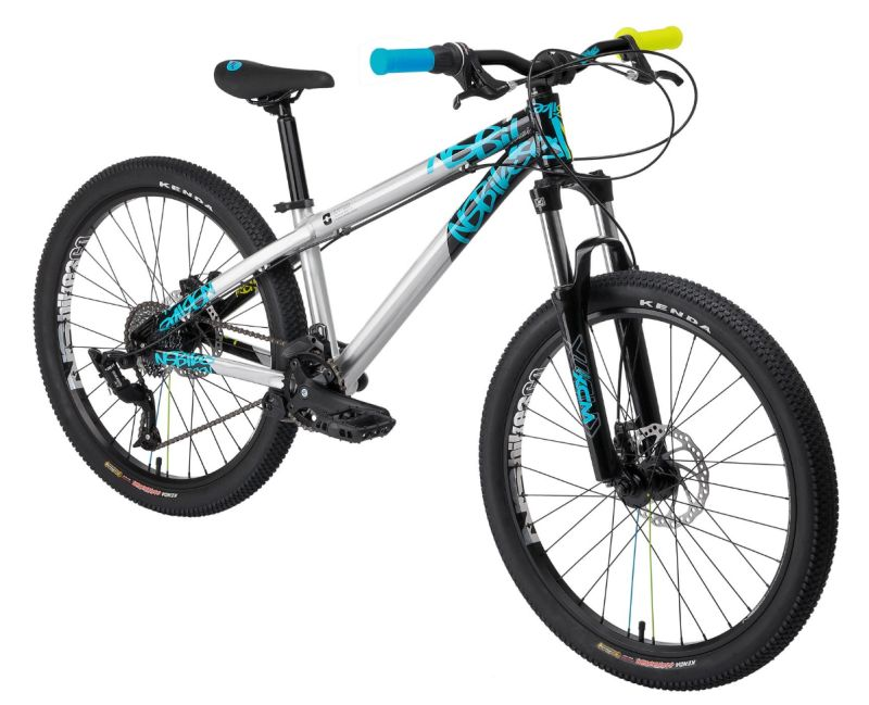 "NS Bikes Clash Jr. (24"") XV - silver/black/cyan"