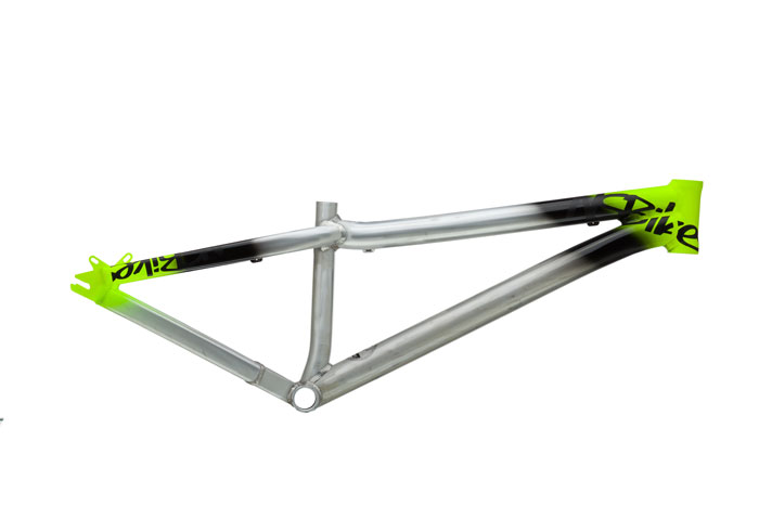 NS Bikes Decade Dirty Silver Lime frame