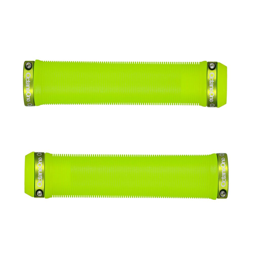 Octane One Bolt-on LONG grips LIME