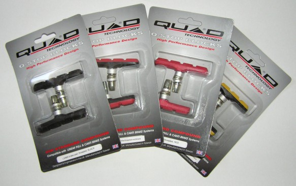 Quad LX V-brake pads (colour)