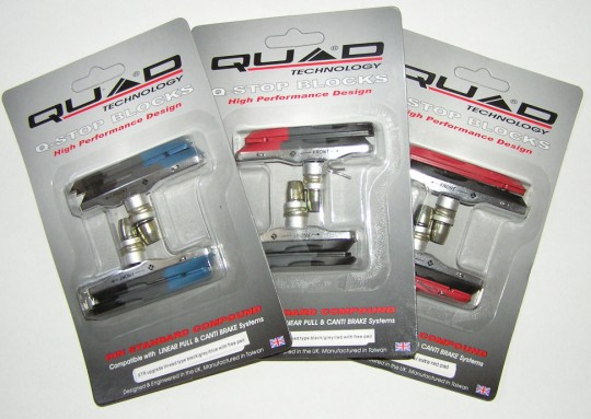 Quad XTR V-brake pads (colour)