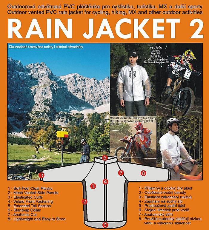 Rain Jacket 2 - for Cycling, MX, outdoor