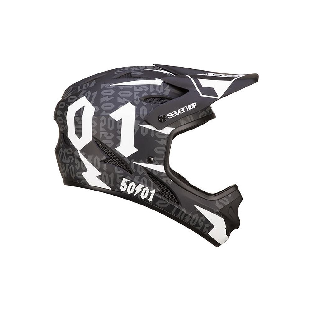 7idp - SEVEN helmet M1 50:01 Black White (50fifty)