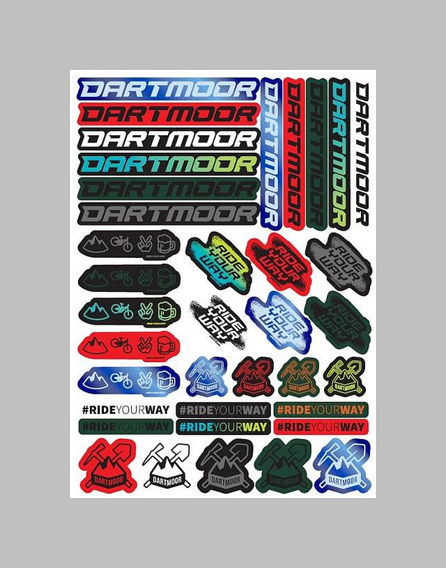Dartmoor Sticker sheet A3 Dartmoor/Ride Your Way - samolepky