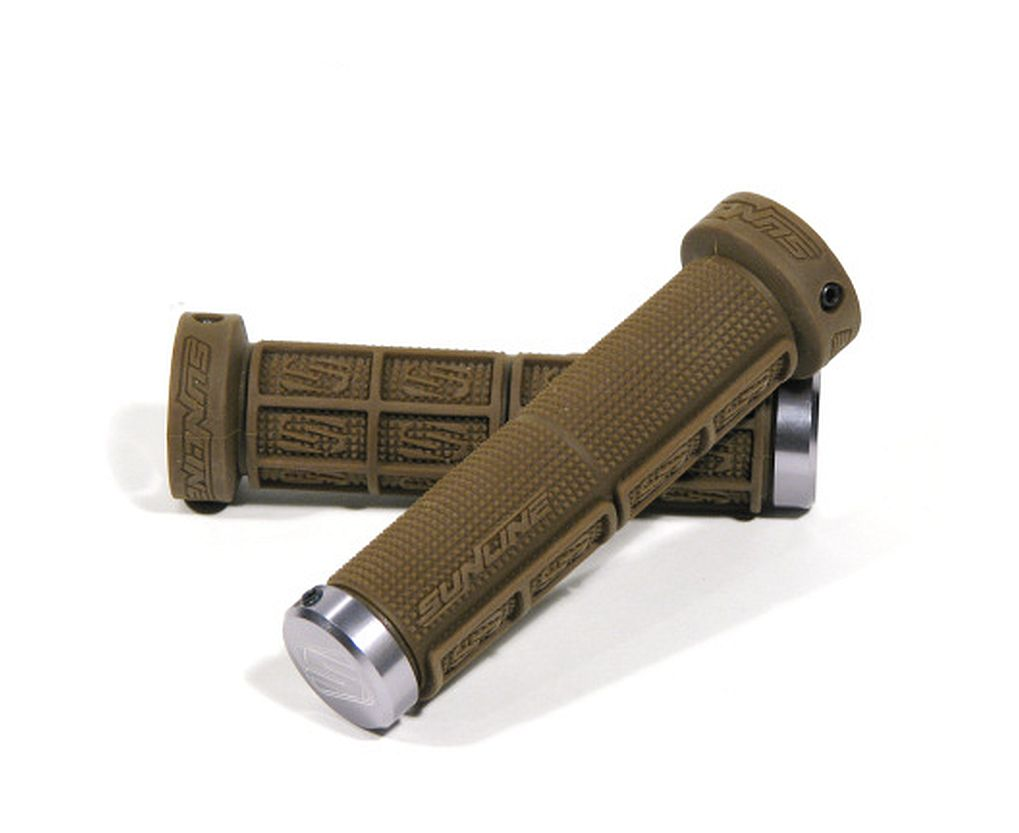 Sunline Half Waffle Lock-On grips brown