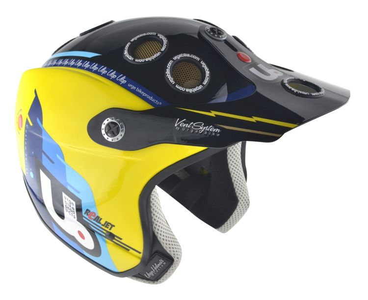 URGE Real Jet Wing Yellow Blue Black helmet size S/M